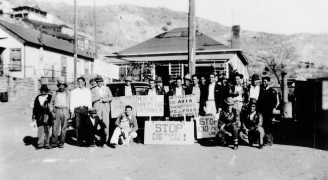 Morenci Miners Union Local 616 on strike in 1946
