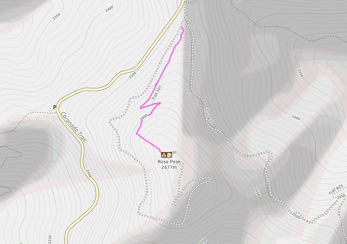 Rose Peak Map